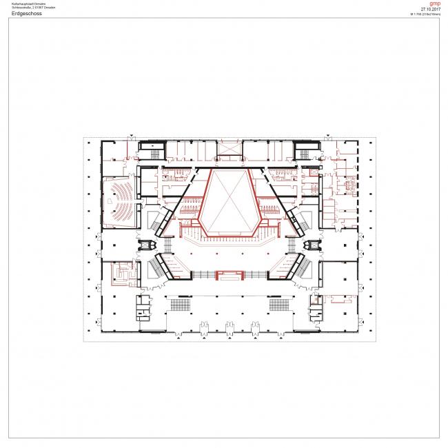 Дворец культуры в Дрездене – реконструкция © gmp Architects