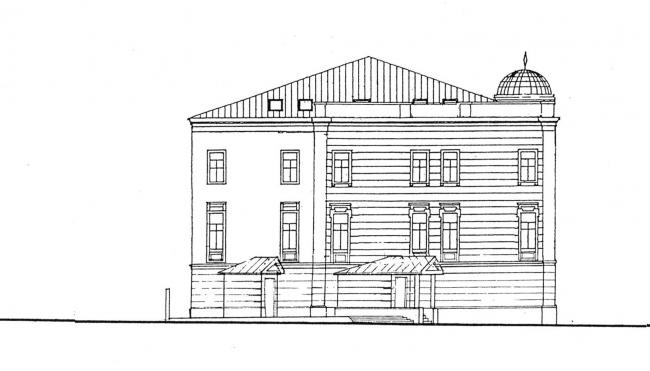 The lateral facade. Project. Green House. The reconstruction project at Bolshaya Nikitskaya, 17, Bld. 1. ABV Architects, Pavel Andreev