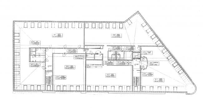 The attic floor. Project. Green House. The reconstruction project at Bolshaya Nikitskaya, 17, Bld. 1. ABV Architects, Pavel Andreev