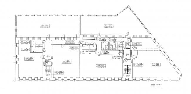 Проект. План 3 этажа. Гринхаус. Реконструкция дома по Большой Никитской, 17к1. Архитектурная мастерская АБВ, Павел Андреев