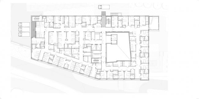 Больница Харальдспласс – новое крыло © C.F. Møller