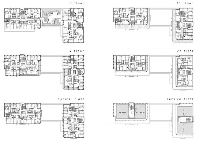 Жилой дом «Тwin House» © АБ «Богачкин и Богачкин»