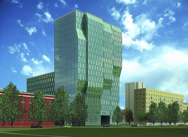 Административно-офисное здание со встроенной АТС © ABD architects