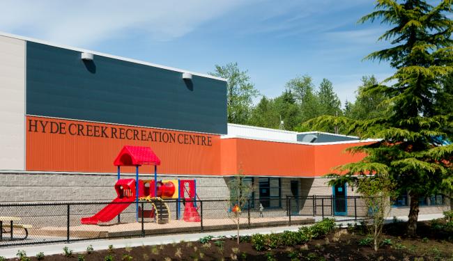 Hyde Creek Recreation Centre. Японские фасадные панели KMEW. Изображение предоставлено компанией «КМ-Технология»