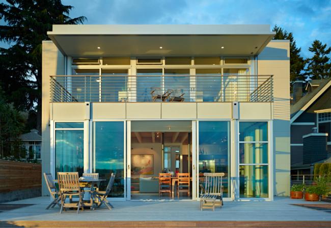 Частный дом на острове Бейнбридж. Японские фасадные панели KMEW. Изображение предоставлено компанией «КМ-Технология»
