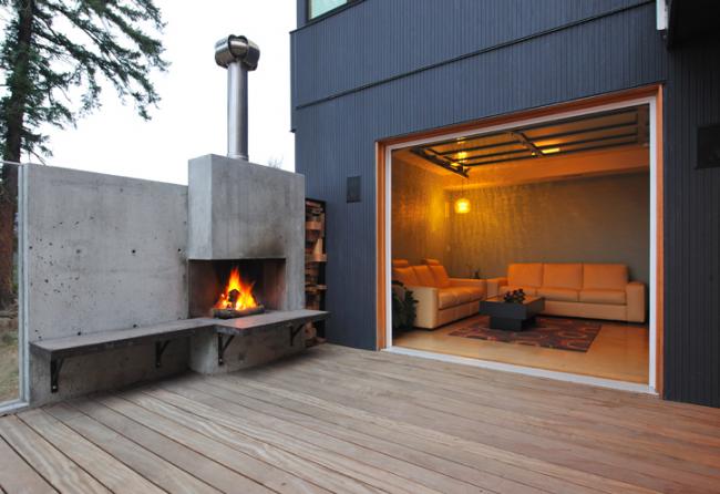 Резиденция White Salmon House. Японские фасадные панели KMEW. Изображение предоставлено компанией «КМ-Технология»