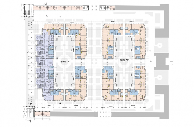 The housing complex on the territory of Petmol Factory. The floor plan at elevation +0,000