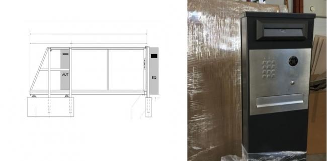 Модели столба «EQ» и «AUT».   Фото с сайта компании «ЗАБОР-МОДЕРН РУ»