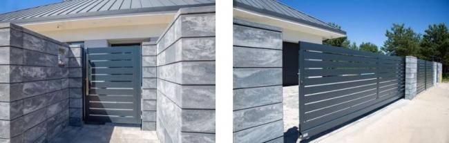 Удлиненные бетонные блоки. Фото с сайта компании «ЗАБОР-МОДЕРН РУ»
