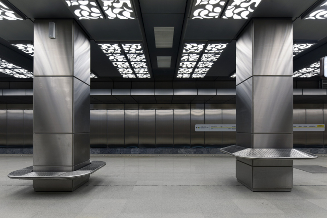 Интерьер публично доступной части станции метро «Новопеределкино»