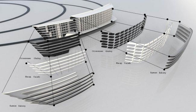 Концепция застройки нового микрорайона в Южно-Сахалинске. Типология зданий © Zaha Hadid Architects
