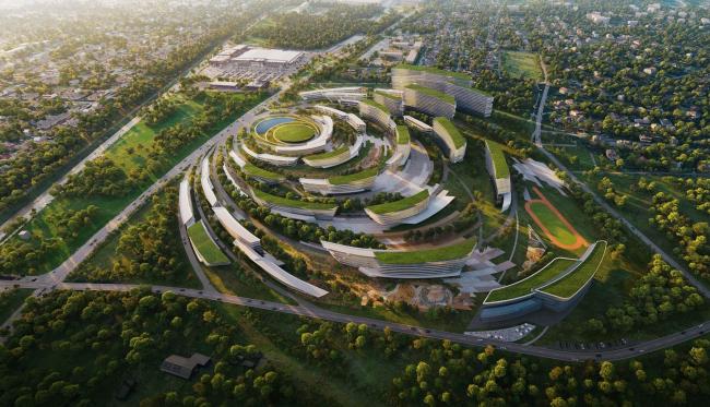 Концепция застройки нового микрорайона в Южно-Сахалинске © Zaha Hadid Architects