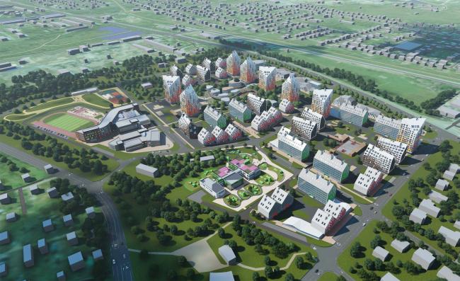 Концепция застройки нового микрорайона в Южно-Сахалинске © Проектная мастерская «Атриум-Партнер»
