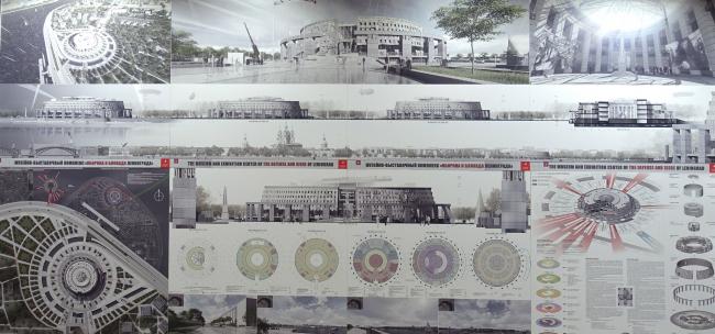 Проект музея блокады, Архитектурная мастерская Мамошина. Переснято со стенда, 2019