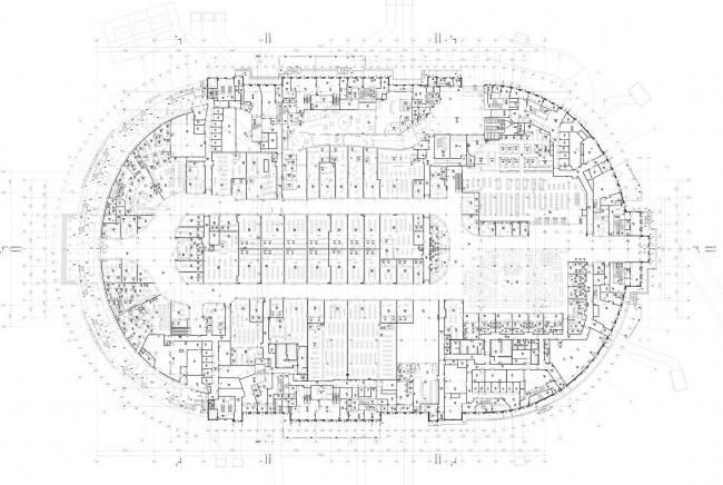 Реконструкция стадиона «Динамо». ВТБ Арена Парк. План 1 этажа