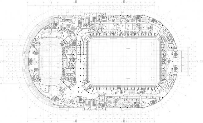 Реконструкция стадиона «Динамо». ВТБ Арена Парк. План 3 этажа