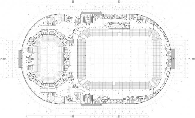 Реконструкция стадиона «Динамо». ВТБ Арена Парк. План 4 этажа