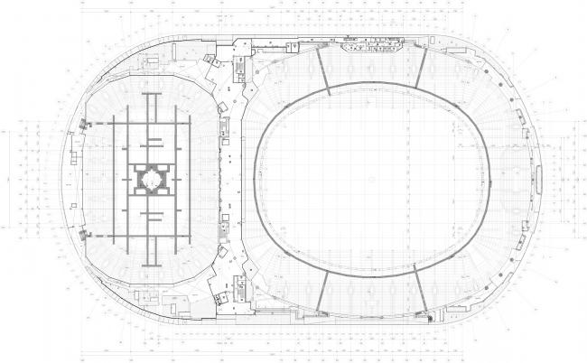 Реконструкция стадиона «Динамо». ВТБ Арена Парк. План 8 этажа