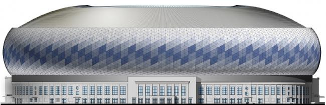 Реконструкция стадиона «Динамо». ВТБ Арена Парк. Фасад восточный