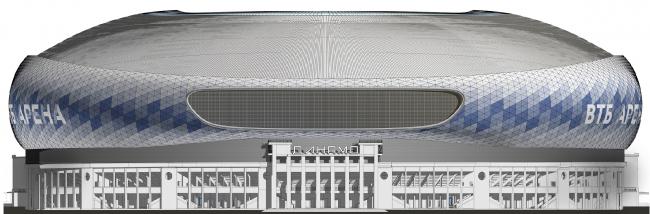 Реконструкция стадиона «Динамо». ВТБ Арена Парк. Фасад западный