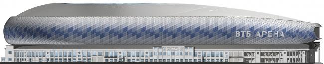 Реконструкция стадиона «Динамо». ВТБ Арена Парк. Фасад северный