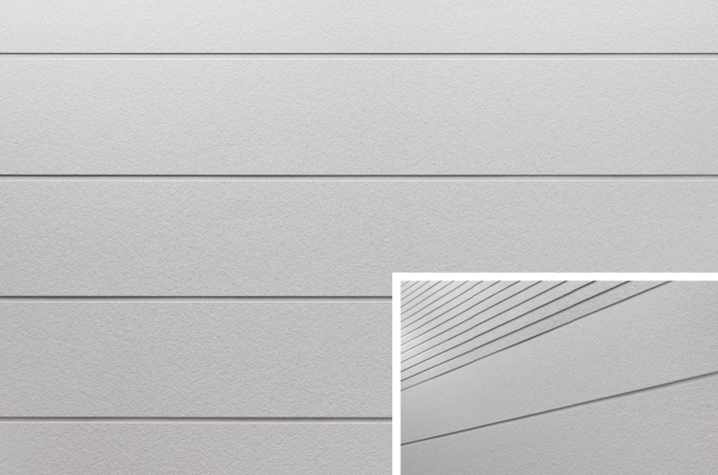 Гладкие фасадные панели KMEW HCW9155GC. Изображение предоставлено компанией «КМ-Технология»