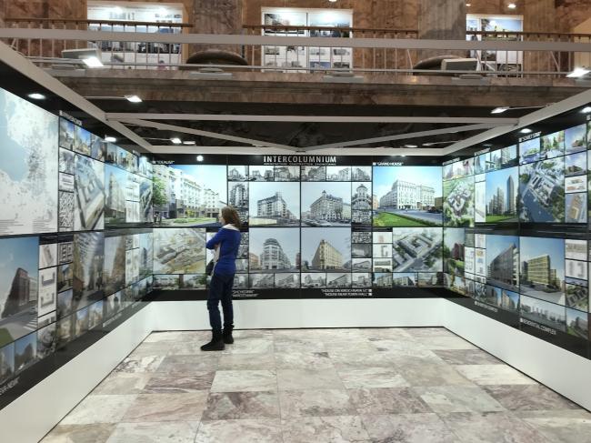 Экспозиция бюро «Intercolumnium» на выставке «Архитектура Петербурга 2019»