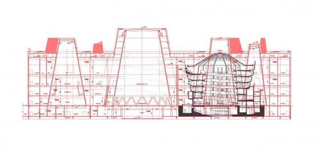 Музей науки и техники Exploratorium в сравнении с музеем Гуггенхайма в Нью-Йорке © Bernard Tschumi Architects
