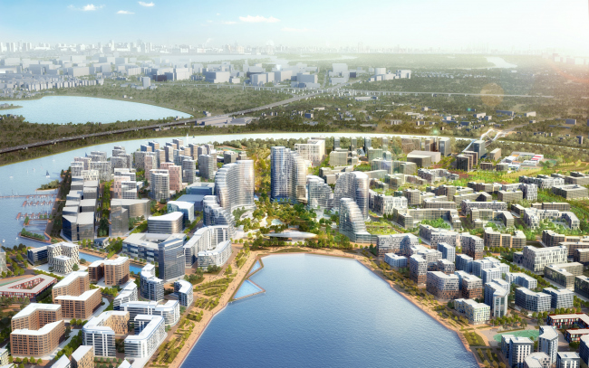 Rublevo-Arkhangelskoe, architectural and town planning concept. The competition winning project