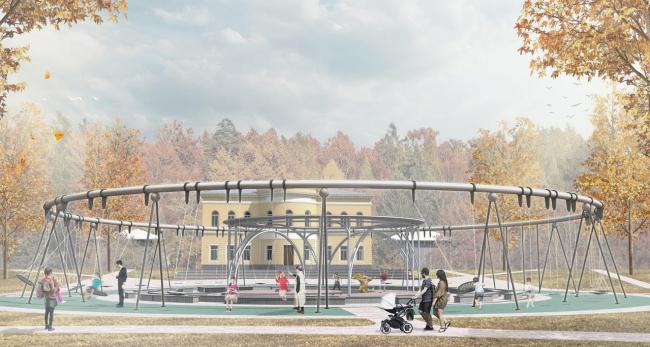Концепция модернизации центрального парка в Красногорске. Детская театральная площадь
