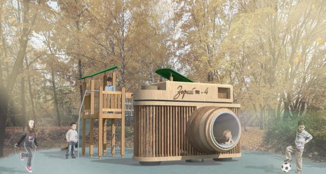 Концепция модернизации центрального парка в Красногорске. Детская площадка ©