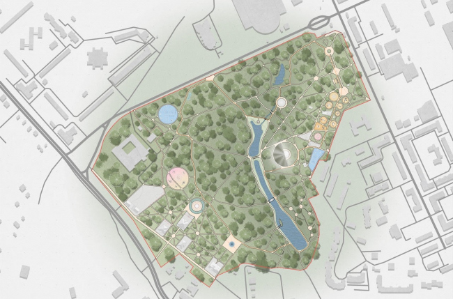 Концепция модернизации центрального парка в Красногорске. Генеральный план парка