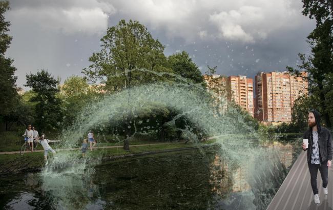 Концепция модернизации центрального парка в Красногорске. «Фонтан Лобачевского»
