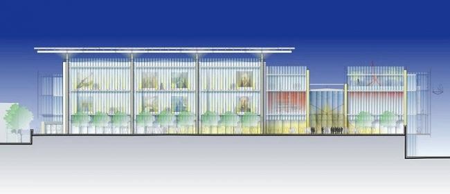 Современный корпус Чикагского Института Искусств. Проект © RPBW