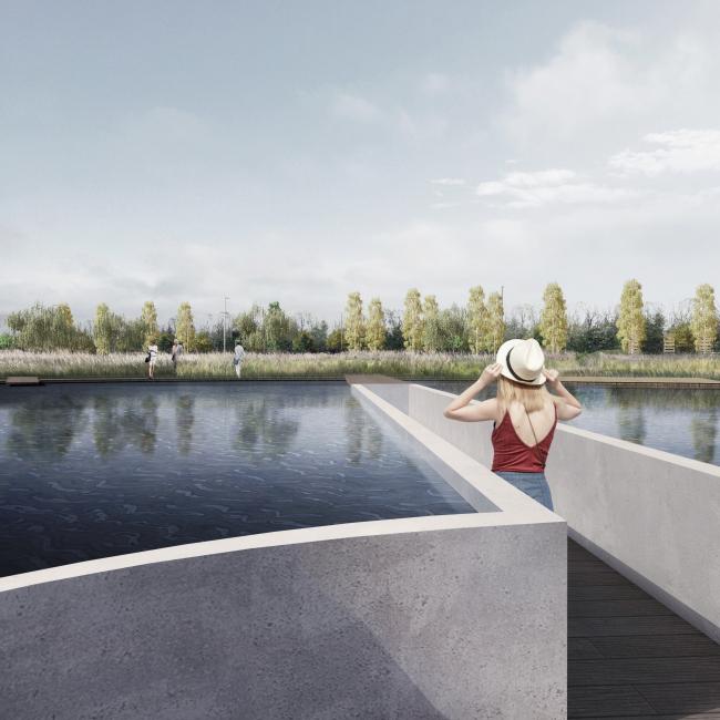 GRAD Park. Pond