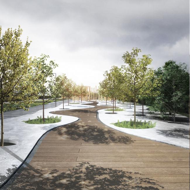 GRAD Park. Promenade