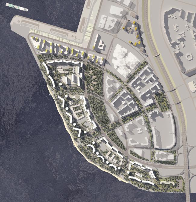 Концепция застройки намывных территорий в западной части Васильевского острова