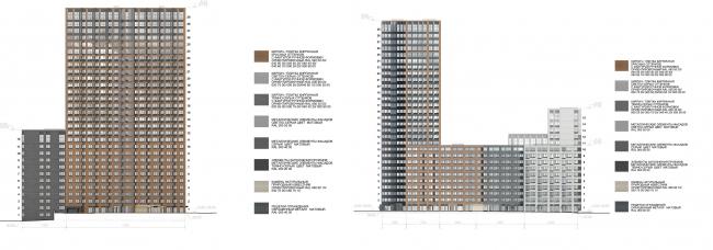 МФК с жилыми помещениями для временного проживания на ул. Ивана Франко. Фасады