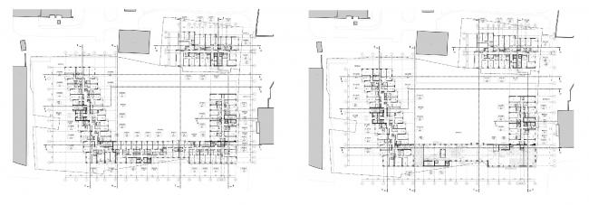 МФК с жилыми помещениями для временного проживания на ул. Ивана Франко. Планы 8-9 и 10 этажей