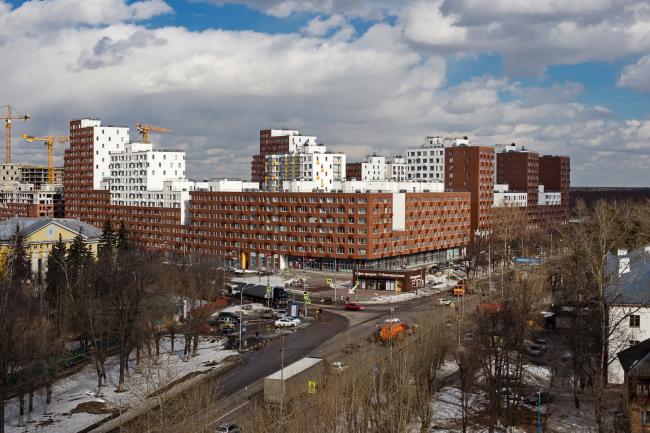Novokraskovo housing complex. Top view
