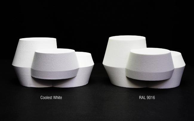 Стойкая краска Coolest White в сравнении с другим оттенком
