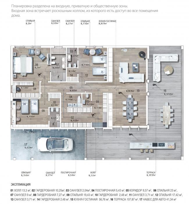 Дом нового формата. План