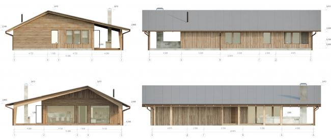 Дом нового формата. Фасады