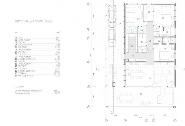Дом нового формата. План этажа