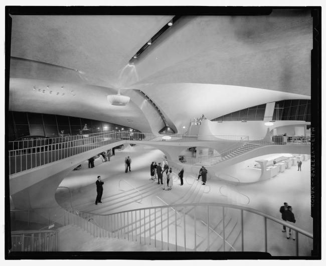Терминал TWA. Вид вскоре после открытия