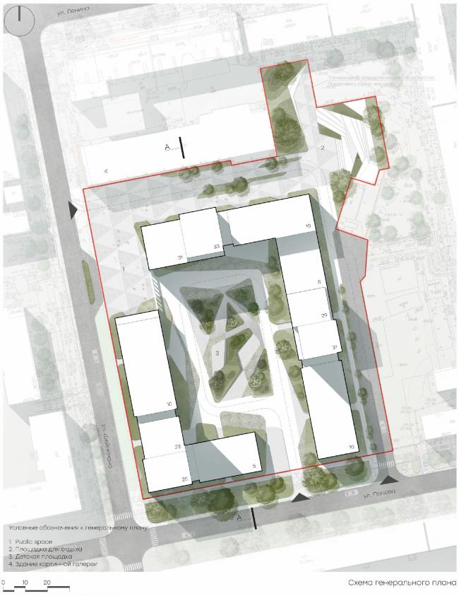LVIII housing complex. Master plan