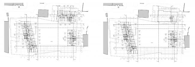 МФК с жилыми помещениями для временного проживания на ул. Ивана Франко. Планы 11 и 12 этажей