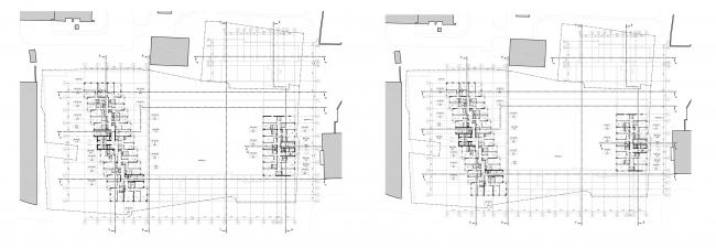 МФК с жилыми помещениями для временного проживания на ул. Ивана Франко. Планы 13-14 и 15 этажей