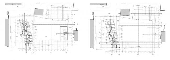 МФК с жилыми помещениями для временного проживания на ул. Ивана Франко. Планы 16-20 и 21 этажей