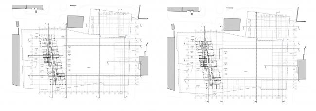 МФК с жилыми помещениями для временного проживания на ул. Ивана Франко. План 22-24 и 25-29 этажей